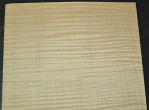 Curly Maple Raw Wood Veneer Sheets 5.25 x 12.5 inches 1//42nd Lot 214