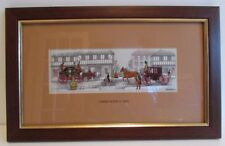 CASHS SILK EMBROIDERY FRAMED PICTURE STREET SCENE (C.1842)