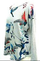 Stella Morgan Jumper Sweater Woman Size 8 UK Blue Bird Fine Knit Casual