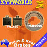 FRONT REAR Brake Pads Shoes YAMAHA YN 100 Neos 100 1999 2000 2001 2002 2003