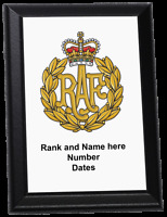 Personalised Wall Plaque - Royal Air Force cap badge, RAF