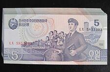 Bundle of 100Pcs Korea 5 Won Paper Money,1998,P-40,Uncirculated