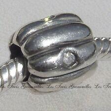 Biagi Bead Sterling Silver, 8 Tube Cylinder 4 CZ Designer Fashion Charm Jewelry