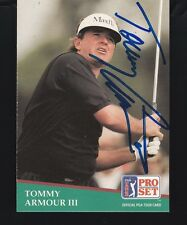 TOMMY ARMOUR III -- 1991 PRO SET CARD #180 -- SIGNED / AUTOGRAPHED