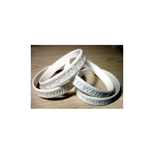 50 HONORED TO WAIT White Christian Silicone Wrist Bands Bracelets - Size 8""