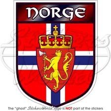 """NORWEGIAN Shield NORWAY Vinyl Bumper Sticker 100mm (4"""")"""