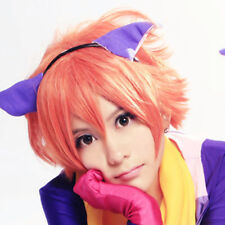 Ouran High School Host Club Kaoru/Hikaru Hitachiin Orange Pink Cosplay Wig