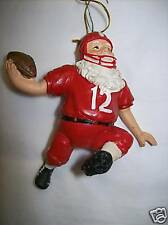 Football Santa Ornament