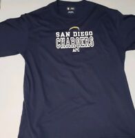 NFL San Diego Chargers AFC Team Apparel Men's Large Navy Blue T-Shirt