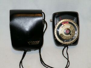 VINTAGE GE GENERAL ELECTRIC EXPOSURE METER LIGHT METER TYPE PR-3 in LEATHER CASE