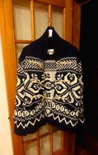Ralph Lauren Denim & Supply Big Knit Snowflake Knitted Cardigan Sweater Shawl