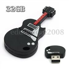 32GB Mini Guitar Model USB 2.0 Flash Memory Stick Pen Storage Drive Thumb U Disk