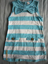 Poney Girl Blue Round Neck Sleeveless Dress (4-5yo) 1pcs