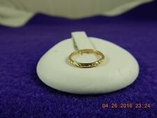 10k ornate decorative gold baby ring - size <0 on ring scale - vintage ring