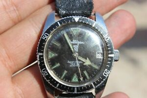 Vintage Diver Watch Culligan Fluorescent Tropical