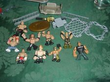 Lot of WWE Mini Rumblers Wrestlers Action Figures Wrestling John Cena/The Rock++