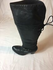 Clarks Women's Black Leather Knee High Boots Size 6(H67).