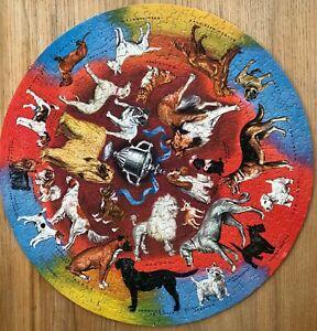 VINTAGE 1960s PRIZE DOGS SPRINGBOK EDITIONS CIRCULAR JIGSAW PUZZLE
