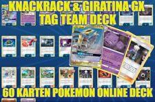 Pokemon TCG Online 60 Karten Drachen Deck Knakrack & Giratina GX