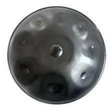 NEW BLACK Harmonic Handpan 9-notes D-Minor Steel Pan handrum hung Art *FAST SHIP