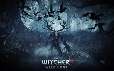 """The Witcher 3 Wild Hunt Fabric poster 21"""" x 13"""" Decor 52"""