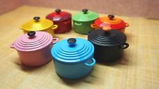 Le Creuset Miniature  Cast Iron Round Dutch Oven 1:12 Scale Vtg x1pc Dollhouse