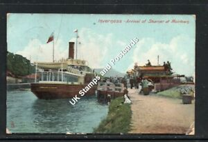 1907 Arrival Of Steamer 'Gondolier' At Muirtown Inverness Posted Card As Scanned