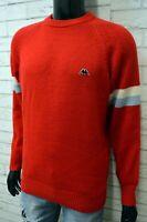Maglione Kappa Uomo L Pullover Felpa Maglia Lana Sweater Man Vintage Cardigan