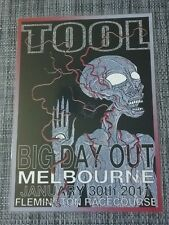TOOL - 2011 BIG DAY OUT Tour - Laminated Promo Poster - MELBOURNE!
