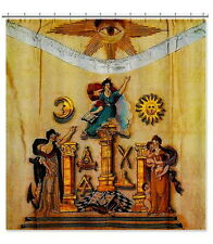 Vintage Masonic Apron Translite 6'x6' Royal Arch Mason Freemason Banner