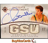 2007-08 Chris Mullin Upper Deck Ultimate Commitment Game Used Patch Auto /25
