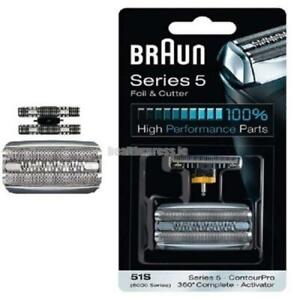 51S Replacement Foil & Cutter - 360 Series 5 and 8000 Series Braun₃Activator