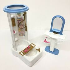 Vintage Barbie So Real So Now Bathroom with Accessories Doll house Furniture