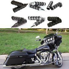 "Motorcycle Handlebar Hand Grips 1"" For Harley-Davidson Street Glide Special CVO"