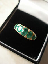 Emerald Wedding Eternity Yellow Gold Fine Rings