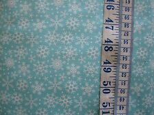 Christmas Fabric - Blue Snowflakes from Riley Blake 100% cotton per Fat Quarter