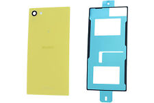 Genuine Sony Xperia Z5 Compact E5803, E5823 Yellow Battery Cover with Adhesive -