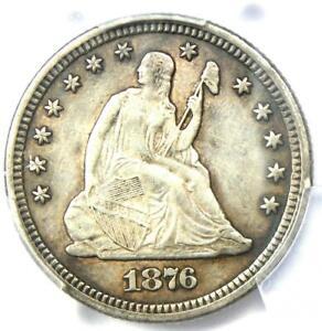 1876-CC Seated Liberty Quarter 25C - PCGS XF Details - Rare Carson City Date!