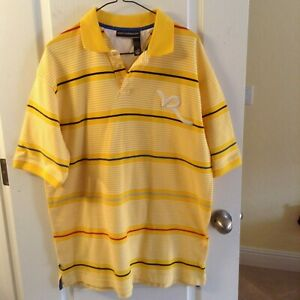 Rocawear Polo Shirt Men's Colorblock Logo Polo Urban WASHED TWICE! size Large