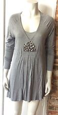OUI MOMENTS GREY JERSEY TUNIC SIZE 12 BNWT £79