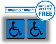 2 x Disabled Car Stickers Light Blue Badge Mobility Window Bumper Vehicle Vinyl