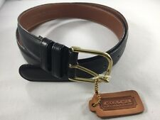 NEW Mens COACH English Calfskin Belt - $150 NWT Size 38 Black Brass Buckle 2781