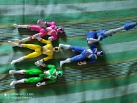 Power Rangers Lightspeed Rescue Action Figures (Blue, green, yellow and pink) #