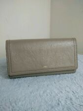 Fossil Cow Hide Leather Ladies Light Grey Purse N19