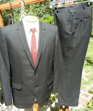 New listing Alterable Vtg 1960s Curlee Suit 44R 34x28 w/ Cuffs & Skinny Lapels Man In Black