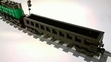 LEGO CUSTOM MOC: BLACK GONDOLA 33 STUDS LONG - FOR LEGO CITY TRAIN / RAILROAD