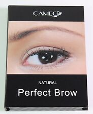 Cameo Cosmetics Perfect Brow- Natural Brown Eyebrow Brush Stencils Tweezer Brush