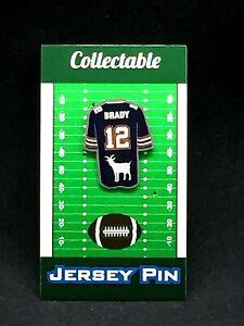 New England Patriots Tom Brady jersey lapel pin-Classic Collectable-7X SB CHAMP