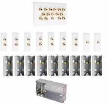 7.2 Slimline Speaker Audio Wall Face Plate kit + Back Boxes - AV - NO SOLDERING