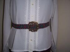 "Civil War/Victorian/Sass Ladies Adjustable Belt (navy, green, red) max. 41"""